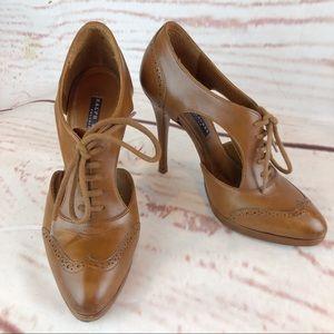 Ralph Lauren   Open Loafer Heels, Size 7